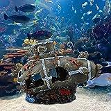 Mxtech Decoración submarina de pecera, decoración submarina de Acuario, decoración de Resina para pecera para Paisaje de pecera, decoración de Acuario, Paisaje de Acuario