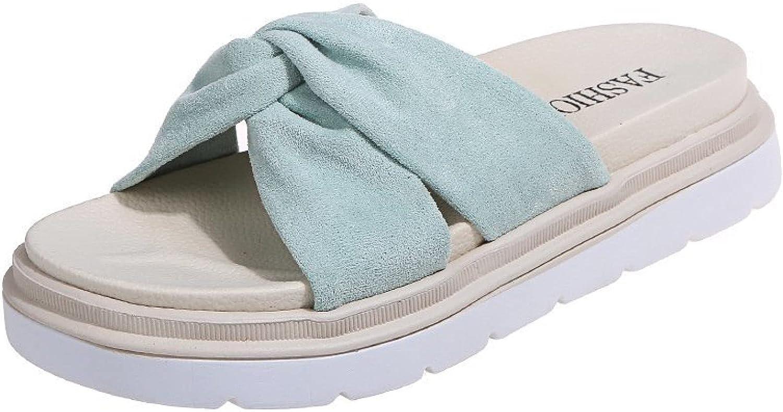 Women's Platform Slip on Slides Sandals Comfort Travel Criss Cross Suede Strap Peep Toe Flat Slide Slippers