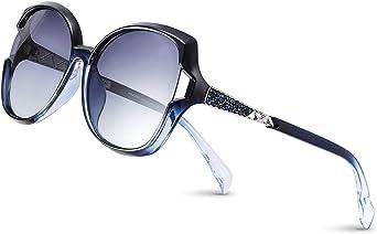 PORPEE Occhiali da Sole da Donna Polarizzati, Occhiali da Sole Moda Scatola Grande con Tecnologia Diamond Embedding - Lenti in Nylon Polarizzato HD | Protezione UV400 | Resistere All'abbagliamento