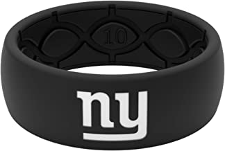 NFL New York Giants - Groove Life Silicone Wedding Ring for Men Breathable Rubber Rings for Men, Lifetime Coverage, Unique Design, Comfort Fit Mens Ring - Original