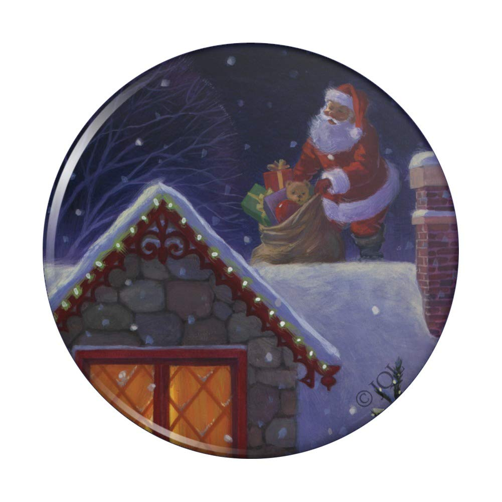 Selling Christmas OFFicial site Holiday Santa Claus on Roof Pocket Compact Hand Purse