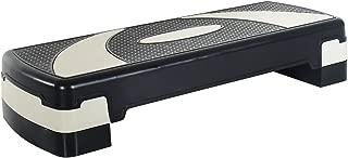 HOMCOM Step de Aeróbic para Fitness Tabla Plataforma Stepper Deporte Gimnasia Altura Regulable 3 Niveles Carga 150kg