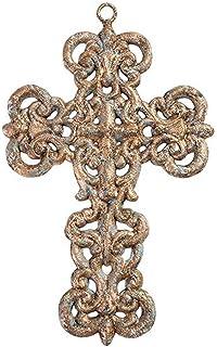 DWBH Homewares 34724 Gold Metal Cross Wall Decor