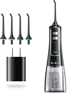 BerZalah Water Flosser Water Pick Flosser with 3 Modes & 4 Tips, Portable Water Pic for Home, Office, and Travel, High-frequency Pulsation for Braces & Bridges Care, IPX7 Waterproof, 300ML