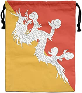HQSS Bhutan Flag Gym Drawstring Bags Travel Backpack Tote School Rucksack Shopping Gift Bag