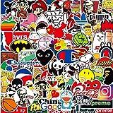 Qingtian 100-Pcs PVC Pegatinas de Marcas Impermeable, Doodle de Pegatina para Portátiles, Niños, Patineta, Caja del Teléfono Móvil, Coche, Maleta, Moto