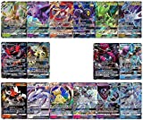 100 Poke Cards Plus 20 Energy - Bonus 2 Legendary and/or Ultra Beast Poke GX, EX, or V Ultra Rare Cards! Includes...