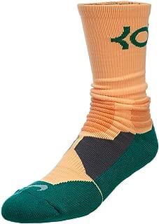 Nike KD HYPER ELITE Cushioned Basketball Socks Peach/Green SX4814-833 SX4814-833