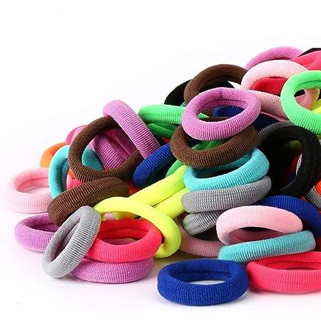 50Pcs Women Girl Elastic Rope Hair Ties Ponytail Holder Rubber Band Hairban jin