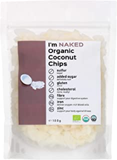 Naked Organic Coconut Chips, 100g