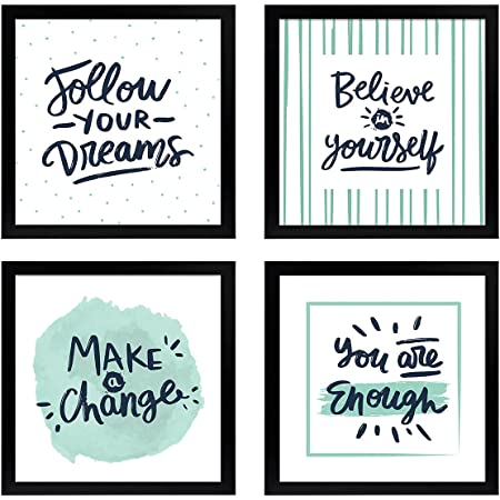 Chaka Chaundh - Suitable Motivational Quotes Frames – Framed Posters - Quotes Frames for Office wall, home decor- Quotes Wall Frames - Posters with Frame - (9 X 9 Inches) - Engineered wood