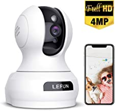 Wireless Security Camera, Lefun 4MP WiFi Baby Monitor Surveillance IP Home Camera with..