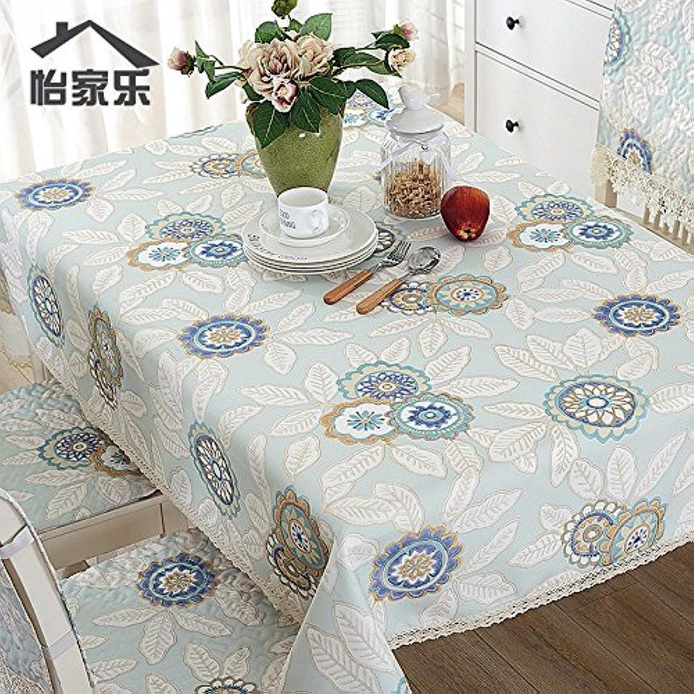 JinYiDian'Shop-Baumwolle wasserdicht Tischdecke, Tischdecke, l- und Eisen-Proof rechteckig Square Round Table, Single, 140, b