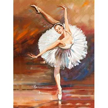 12x16 SKRYUIE 2 Pack 5D Diamond Painting Abstract Dancer Full Drill Paint with Diamond Art DIY Dancing Beauty by Number Kits Embroidery Rhinestone Wall Home Decor 30x40cm