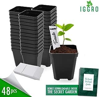 48 pcs Plastic Nursery Pot for Plants 2.75