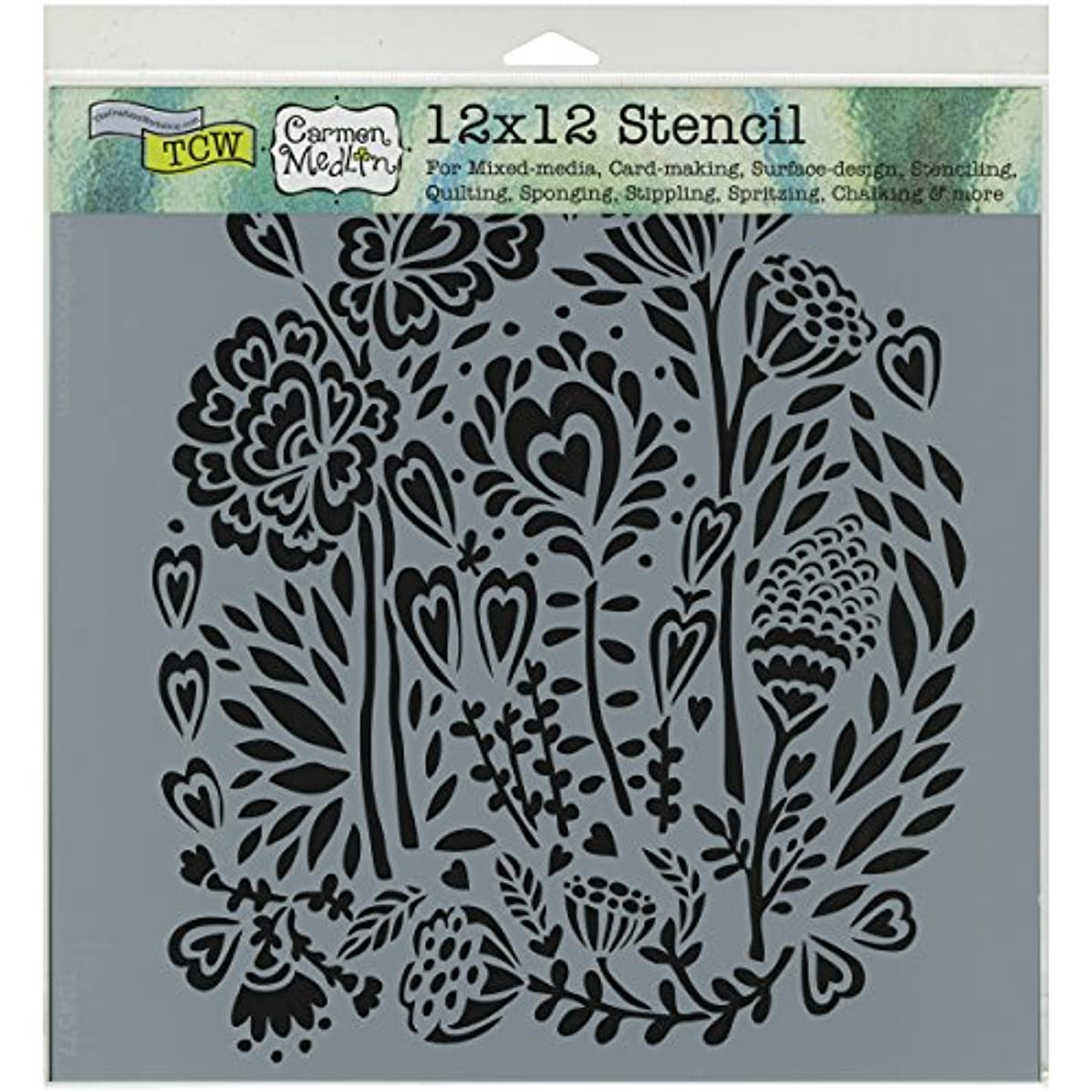 CRAFTERS WORKSHOP Wild Bouquet Template, 12 by 12