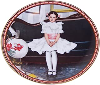 Sitting Pretty Norman Rockwell a Mind of Her Own Edwin Knowles China Plate Offical 1986