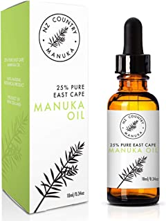 NZ Country 25% Manuka Healing Oil Stronger Than Tea Tree 10ml Best Treatment for Acne, Irritated Skin, Fights Bacteria and Fungus Naturally