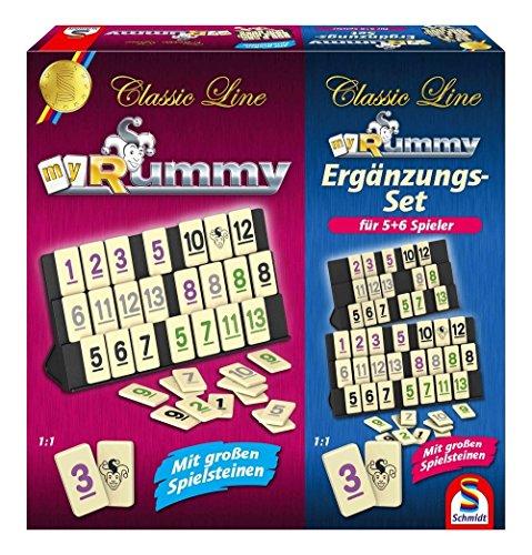 SCHMIDT SPIELE - Rummy con Juego de Complementos para 5-6 Jugadores - 49289