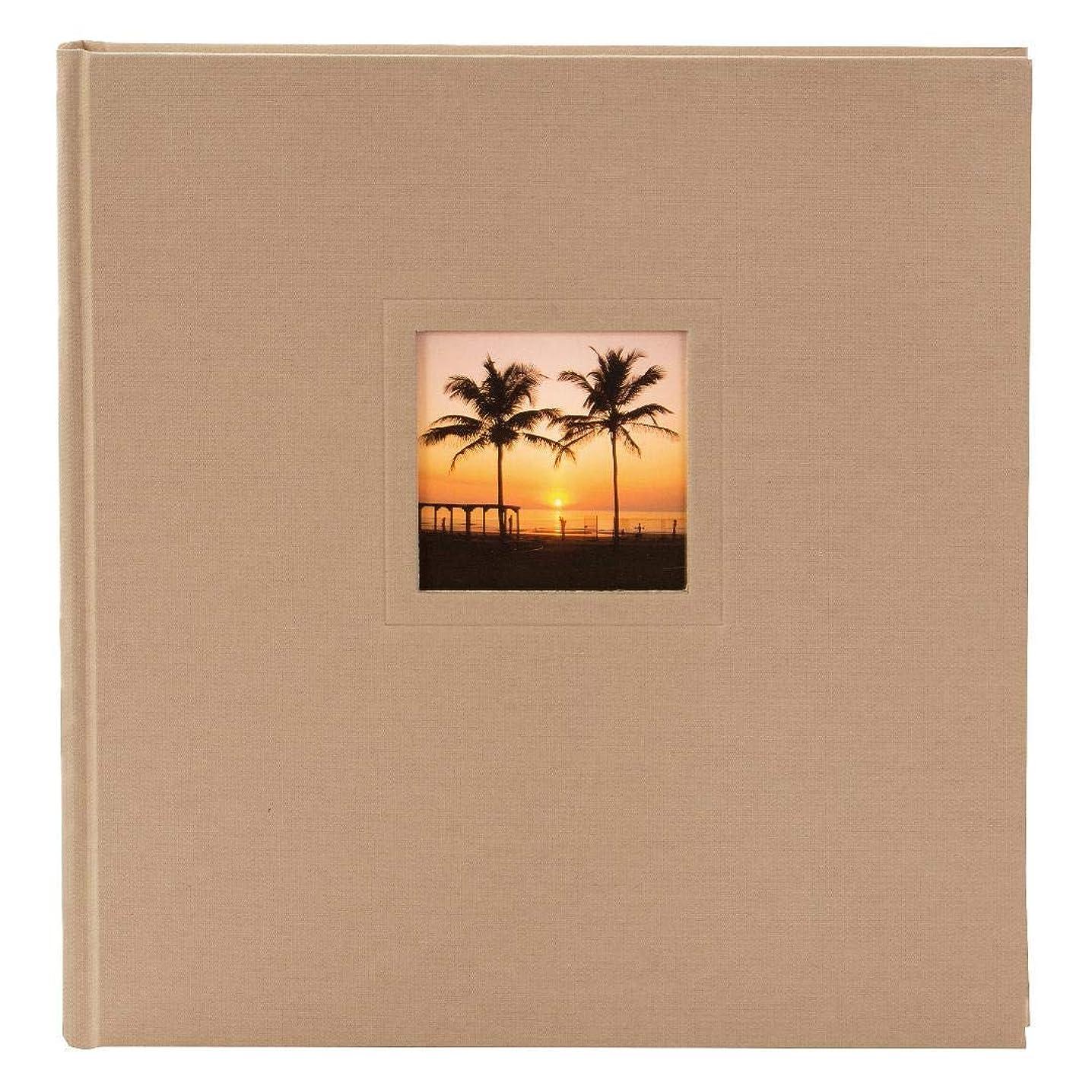 Goldbuch Photo Album, 30?x 31?cm Natura, 100?White Pages with Pergamine Dividers, Textured Buchbi Ndep Sheet, Beige, 31103