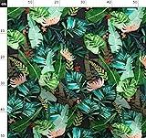 Tropisch, Blätter, Bananenblatt, Dschungel, Palme, Grün