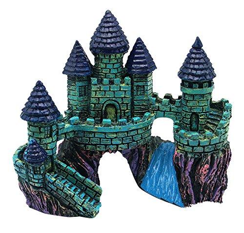 toruiwa roca decoración adorno de acuario forma de castillo