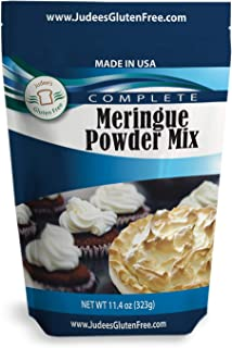 Judee's Meringue Powder Mix (11.4 Oz): No Preservatives: ideal for Cookies, Pies, and Frosting: Made in the USA in a Dedicated Gluten and Nut Free Facility: Complete Mix Just Add Water