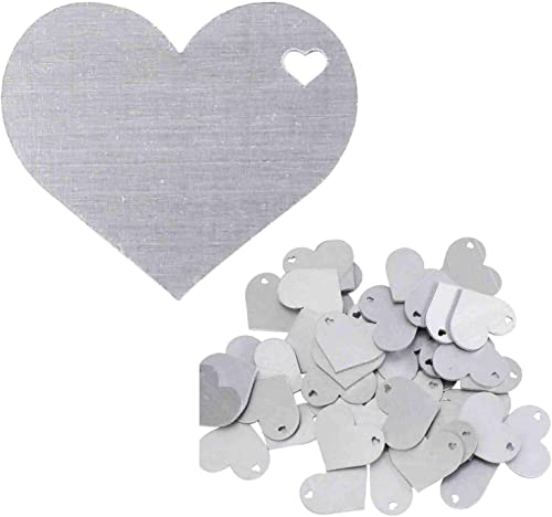 lowest Stamping Blanks - 1.25 Inch Heart Shape with sale Hole - Aluminum 0.063 Inch (14 Ga.) - online sale 50 Pack outlet sale