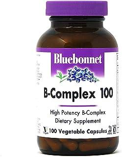 Bluebonnet Nutrition B Complex 100 Vegetable Capsules, Complete Full Spectrum, Vitamin B6, B12, Biotin, Folate, Vegan, Veg...