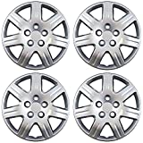 OxGord 16 inch Hubcaps Best for 06-11 Honda Civic - (Set of 4) Wheel Covers 16in Hub Caps Silver Rim Cover - Car Accessories for 16 inch Wheels - Bolt On Hubcap, Auto Tire Replacement Exterior Cap
