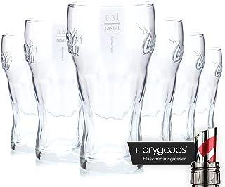 6x Coca Cola contorno cristal 0,3l/vasos, marca