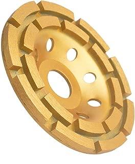 Gunpla 4-1/2-Inch Double-Row Diamond-Cup Grinding-Wheel for Concrete, Granite,Stone, Marble etc
