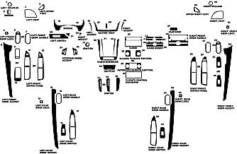 Rvinyl Rdash Dash Kit Decal Trim for Chevrolet Malibu 2008-2013 - Chrome (Silver)