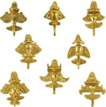Across The Puddle, Ancient Aliens Jewelry Collection, 24k Gold Plated 8 Pre-Columbian Quimbaya Golden Jet-Flyer Lapel Pins with Military Clutch Bundle