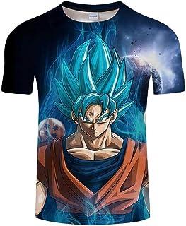 bdc507783a838 Zhudx T-Shirts pour Homme Femme Col Rond Unisexe 3D Imprimé Manches Courtes  Slim Respirant