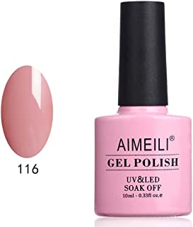 AIMEILI Pastel Nude Gel Nail Polish Soak Off UV LED Gel Varnish - Camellia Japonica (116) 10ml