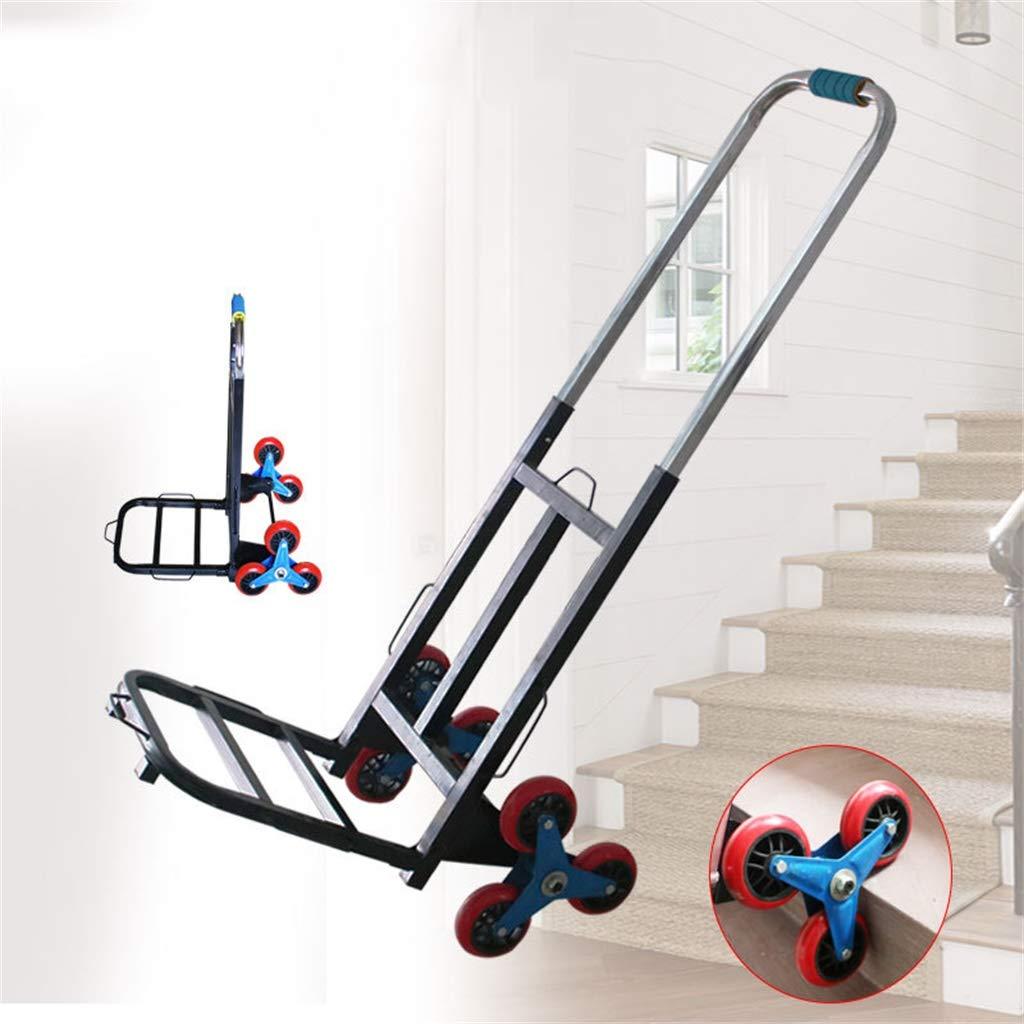 TCTCGXQ Carretilla de Mano, 6 Ruedas Carro de la Compra Carro Que Sube escaleras para el Uso Exterior del almacén mangoextensible,Carga máxima 100 kg: Amazon.es: Deportes y aire libre