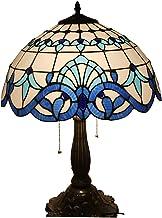 Lampa stołowa w stylu tiffany, retro biurko światło, witraż, do sypialni, salonu, sala nauki, stolika nocna (15,75 × 22,83...
