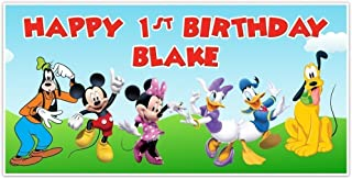 Mickey Mouse Clubhouse Birthday Banner Personalized Party Decoration