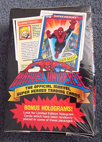 1990 Marvel Universe Series I Trading Card Box - 36 Packs 12 Cards per Pack image