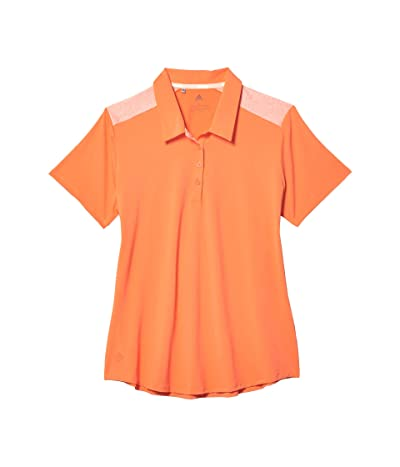 adidas Golf Ultimate365 Short Sleeve Polo (Amber Tint) Women