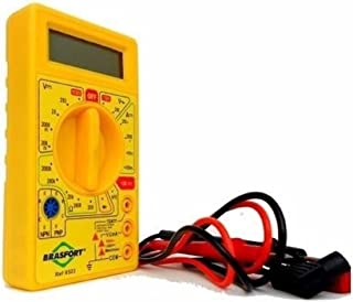 Multímetro Digital, Brasfort, DT830B, Amarelo