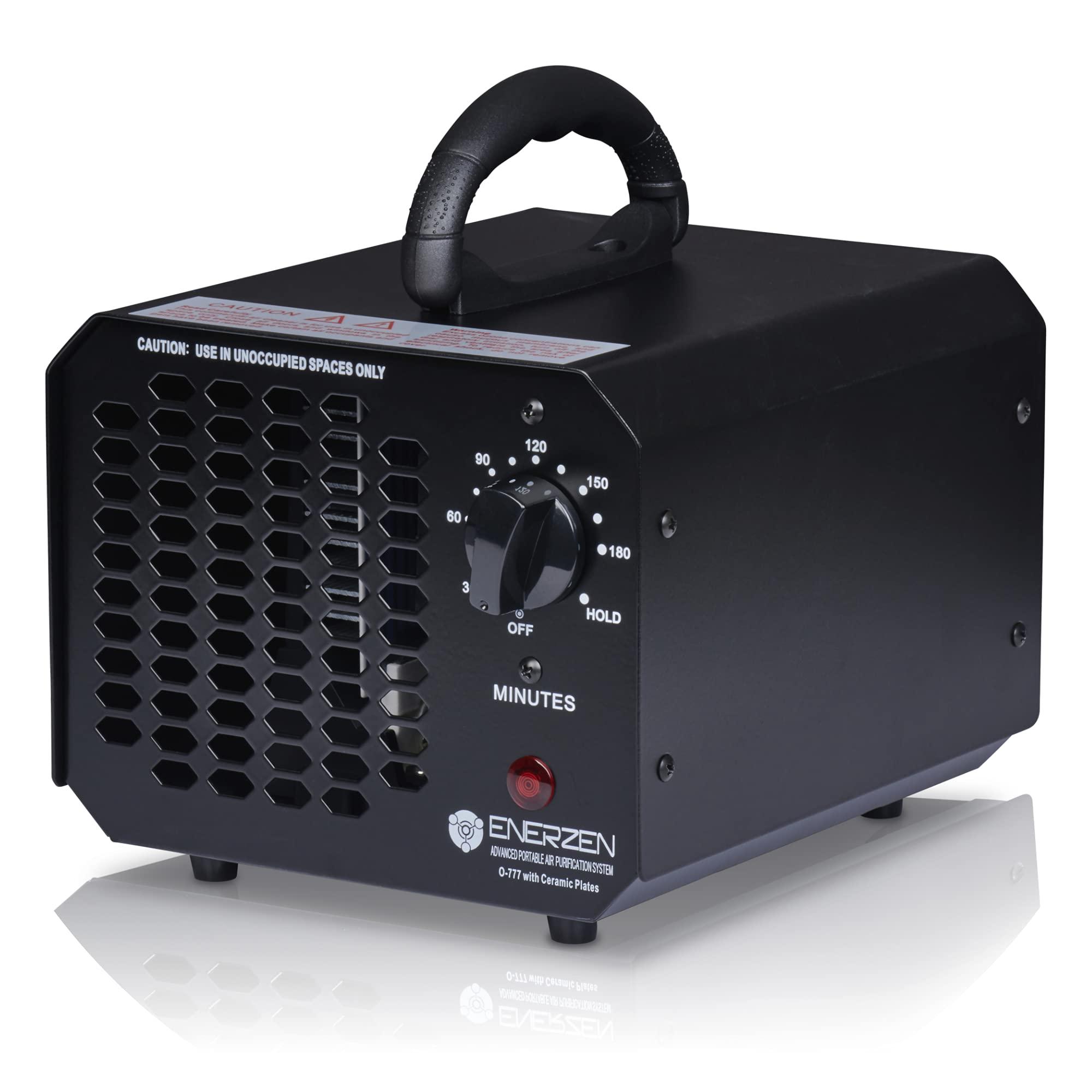 Enerzen Ozone Generator 6,000mg Industrial O3 Air Purifier Deodorizer Sterilizer (6,000mg - Black)