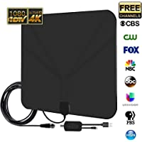 SiLu Digital 4K 1080p HDTV Amplified TV Antenna w/ Long 20ft. Coax Cable