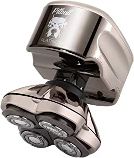 Skull Shaver Pitbull Platinum PRO Electric Razor - Wet/Dry 4 Head 4d Cordless USB Rechargeable...