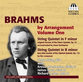 Brahms by Arrangement, Vol. 1