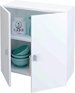 Samblo Armario Bajo de Cocina con 2 Puertas Blanco 26.5 x 60 x 60 cm