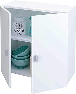 Samblo Armario Bajo de Cocina con 2 Puertas, Blanco, 26.5 x
