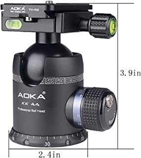 Highline Tripod Ballhead with 360 Degree Fluid Rotating Swivel and 54lb Load Capacity Includes Arca Clamp with 60mm Arca Swiss Plate Medium-Gunmetal Tripod Ball Head for Large Camera Setup