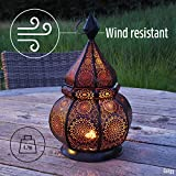 Gadgy ® Orientalische Lampe (36 cm) l Für Kerzen und elektrische Lichter l Innen und Außen Deko l Windbeständig l Marokkanisch Arabisch Orientalisch l Handgemacht - 8
